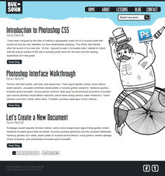 Photoshop Lessons Web Design Post Page by phraisohn