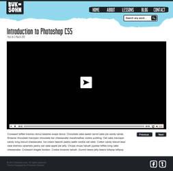 Photoshop Lessons Web Design Video