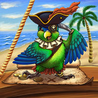 Pirate Parrot by JeMiChi
