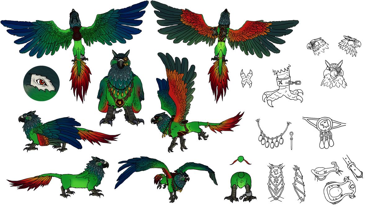 Pyrrhura Griffin concept by JeMiChi