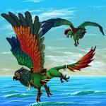 Pyrrhura Griffin concept illustration by JeMiChi