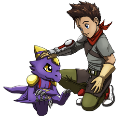 Ryo and Monodramon