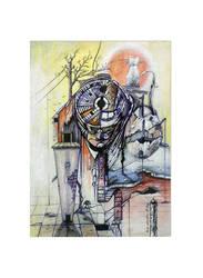 conceptual art  drawing men  color sureal