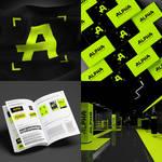 Design logo and identity for wrestling club ALPHA by ZHUCKOVSKY