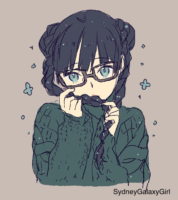 Cute Anime Girl With Glasses