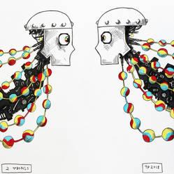 2 cyborgs by theyellowroom27