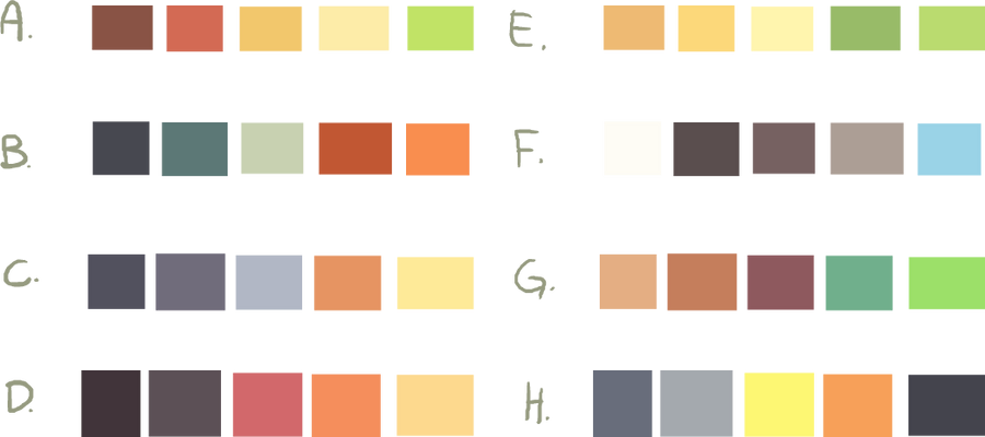 Color Schemes -Free to Use- by Smushey on DeviantArt