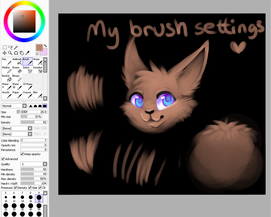 My Brush setting by Smushey