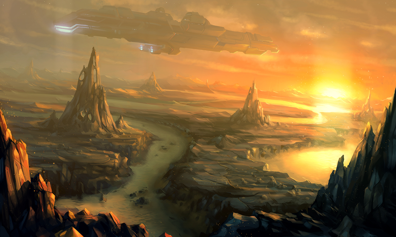 alien landscapes paintings - HD 1280×768