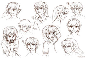Link Making Faces... Sketch Dump by yueki