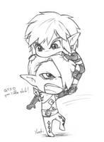 TLoZ:SS - Rawr by yueki