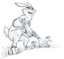 the Easter Kangaroo by yueki