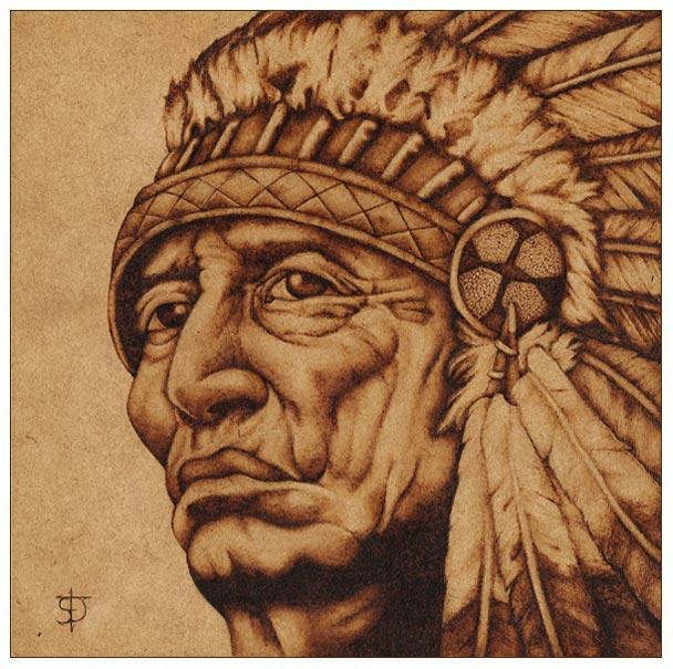 American Native - Pirograbado by felixdasilva