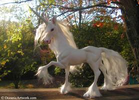 Unicorn Sculpture: Indigo II by SovaeArt