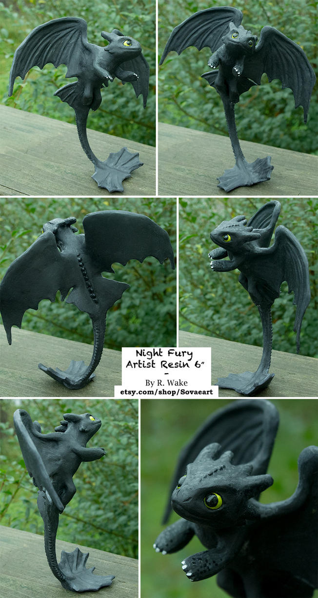 Night Fury Resin by SovaeArt
