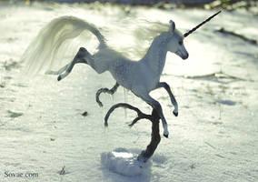 Winter Unicorn II by SovaeArt