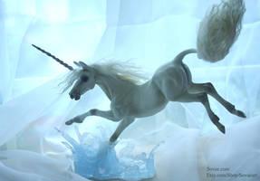 Water Leap Unicorn Sculpture