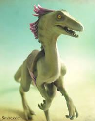 Utahraptor from Evolve Game by SovaeArt