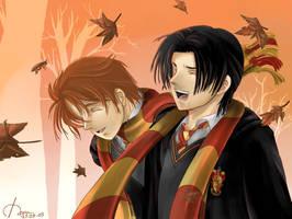 Young Remus n Sirius by maru-