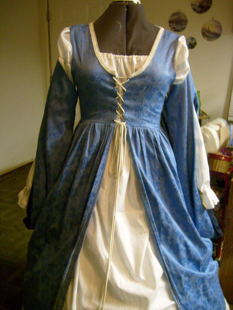 Blue Renaissance Gown by DarkHeianPrincess on DeviantArt