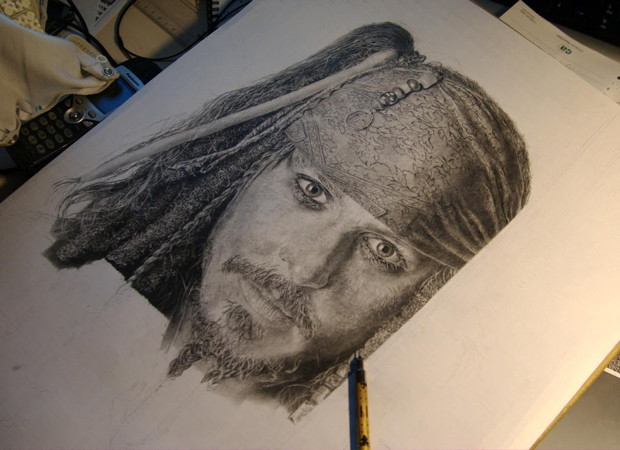 WIP Captain Jack Sparrow by mad-and-loony