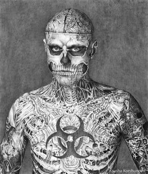 Rick Genest Zombie Boy by korshunovak