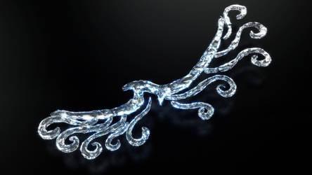 Wind Crystal Eagle - Aigle de Vent en Cristal - OC by Etrelley