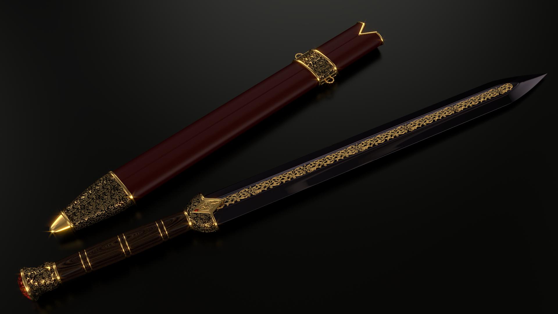 Imperial sword (Ebony version) by Etrelley