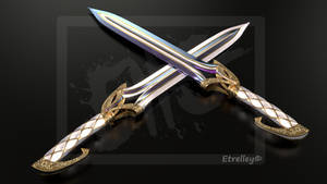 Wata and Husufi - Twin blades - OC by Etrelley