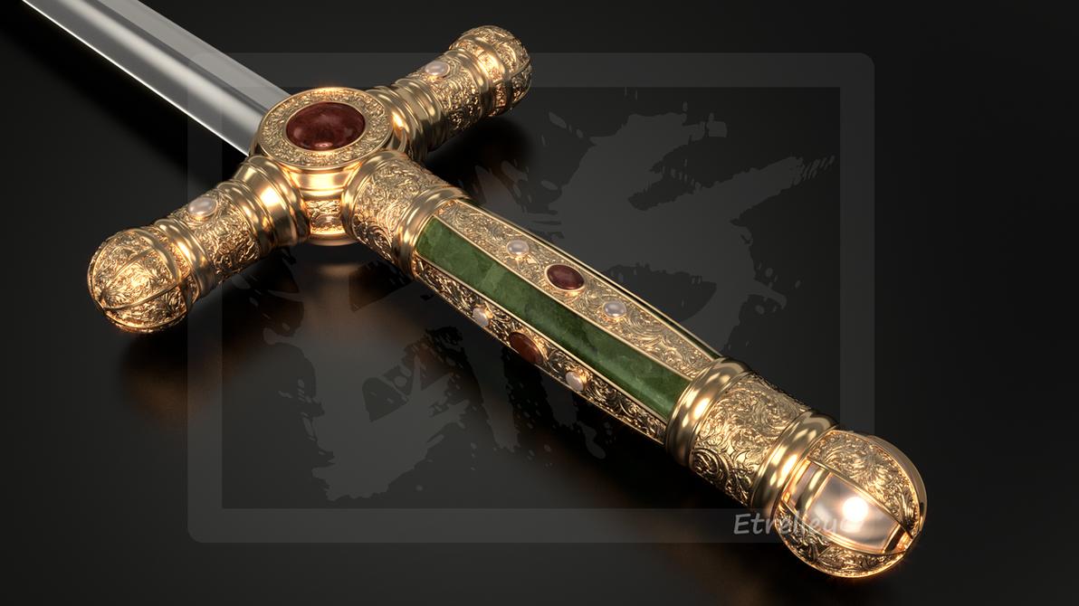 Ceremonial Sword - Epee de Ceremonie (1) - OC by Etrelley