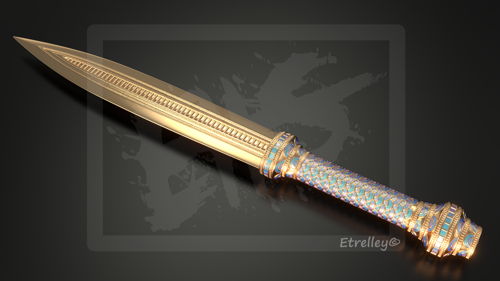 Dagger of Atlantis - OC by Etrelley
