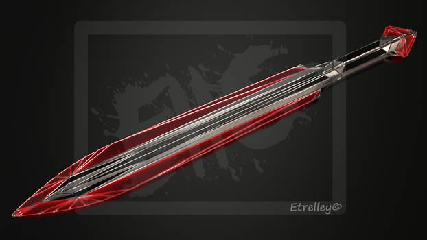 Red Geometric Dagger (Sci-fi) - OC