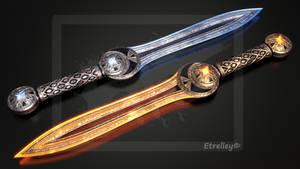 Rigel and Mira - Twin blades - OC