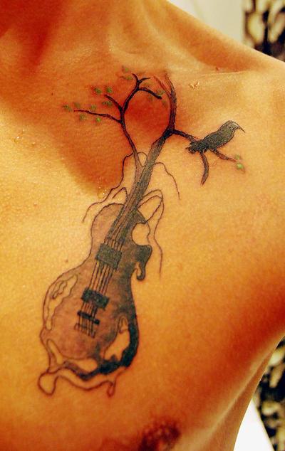 guitar tattoos