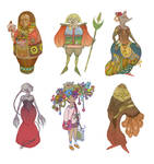 Colorful characters set