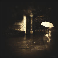 A woman and her umbrella II by Menoevil