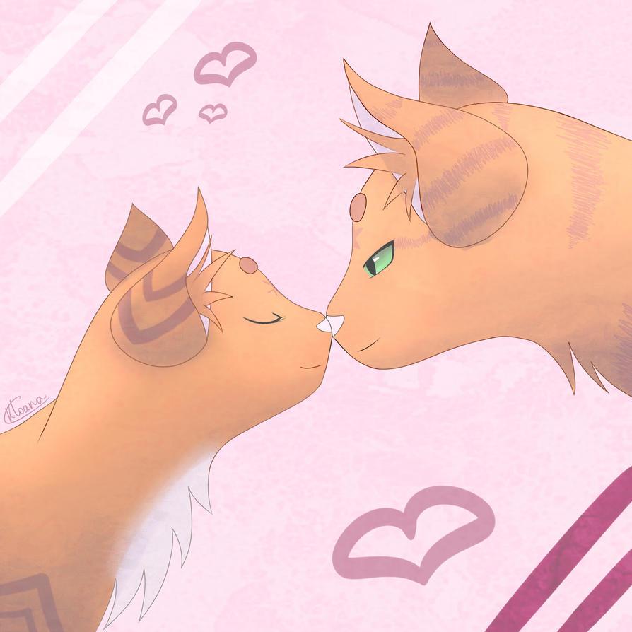 Warriors Cats ~ Happy Valentines ! (+ Speedpaint) by Kloana23