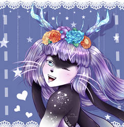 [C] Sweet flowers on your head