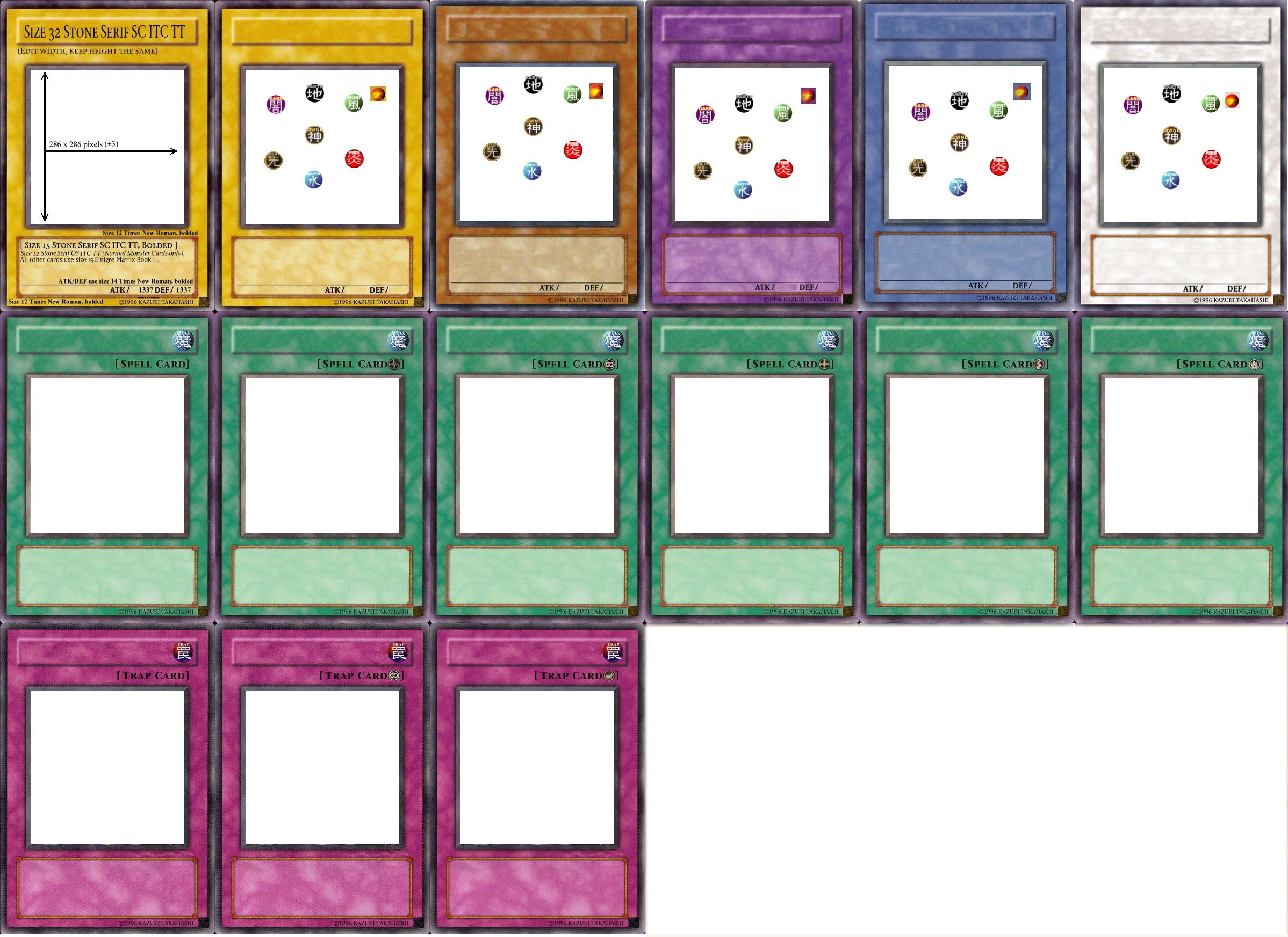 card maker template