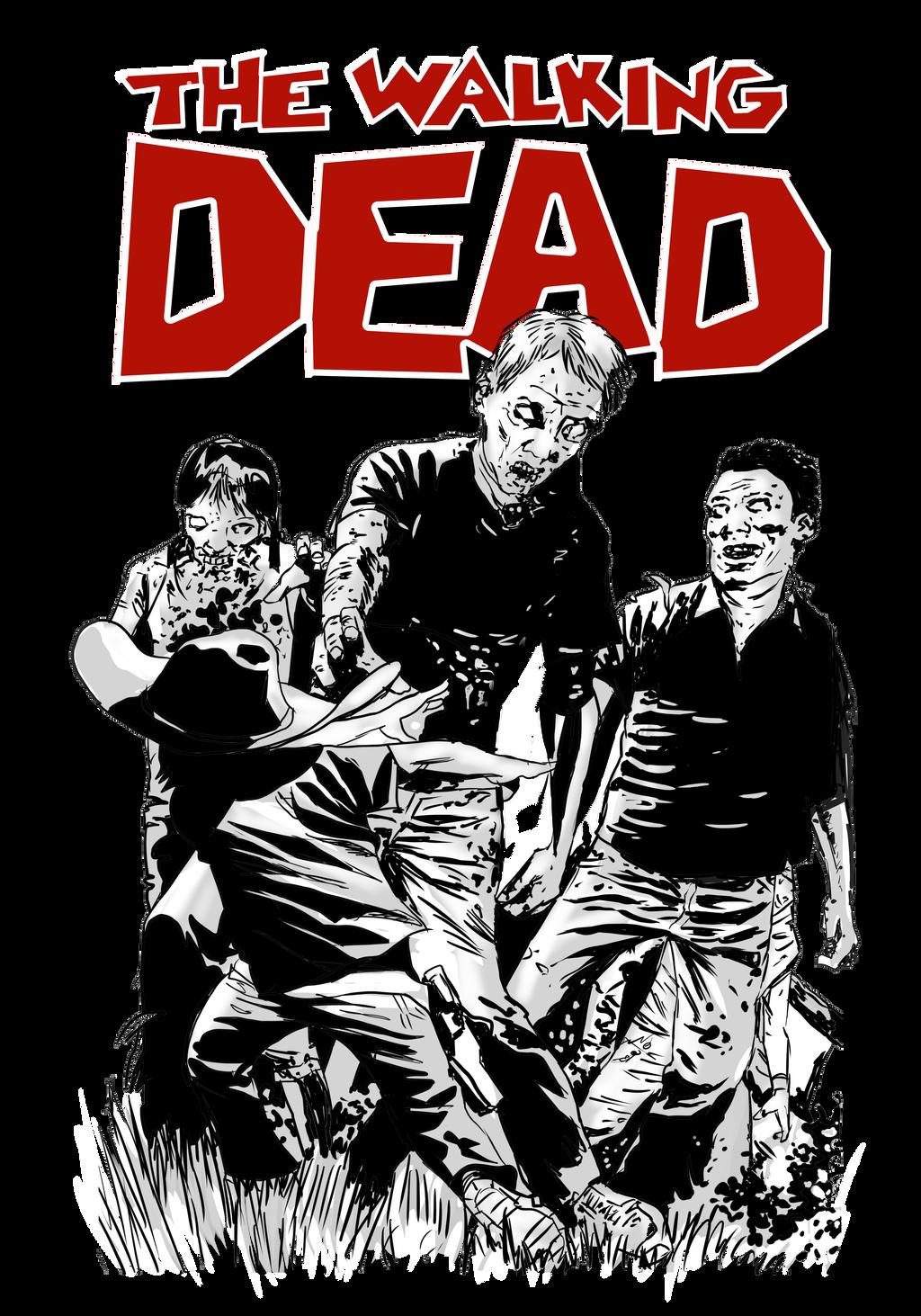Design t shirt png -  Walking Dead A3 Tshirt Design On Png By Bonifaisal