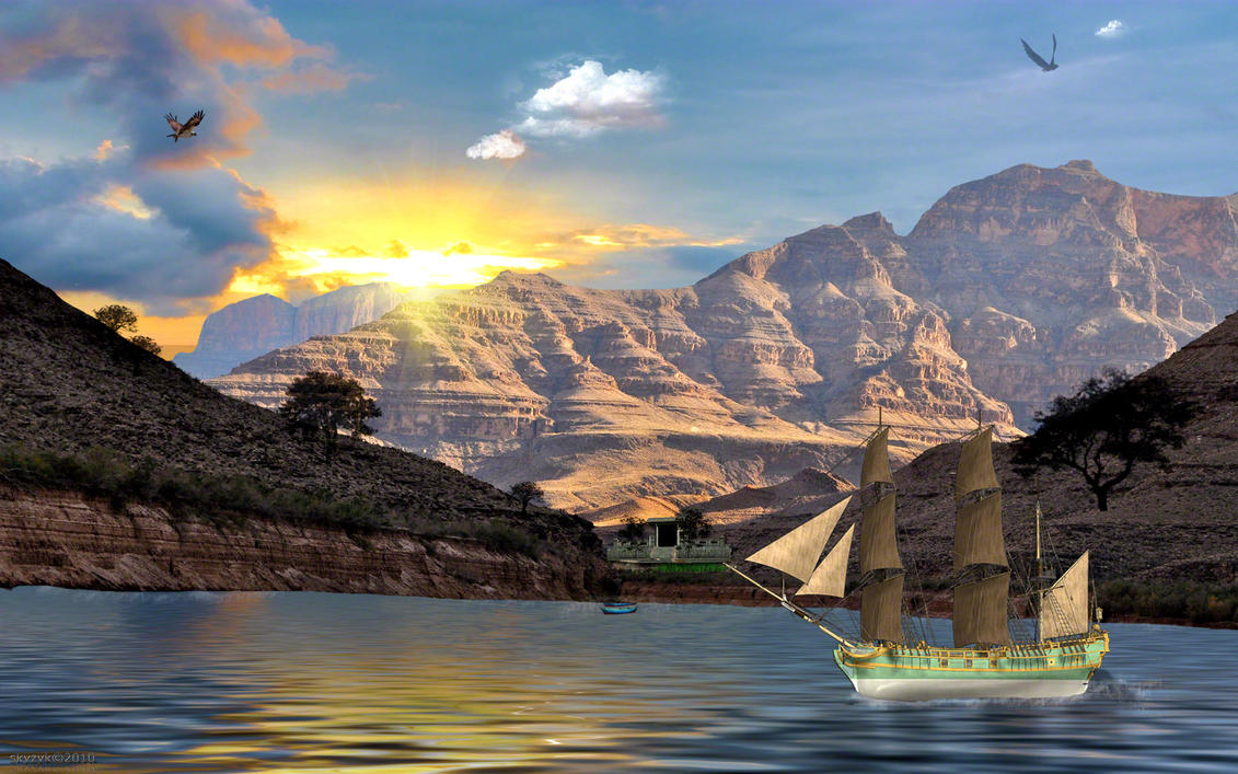 Shangri La Redone 3D Wallpaper > 3D Sun Mountain Wallpapers > 3 Dimensional Wallpapers