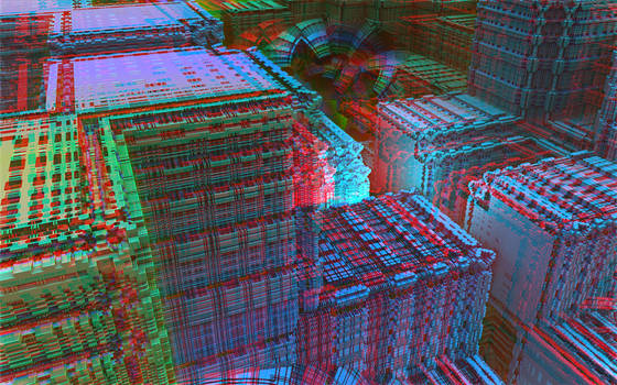 The City - No Map Anaglyph
