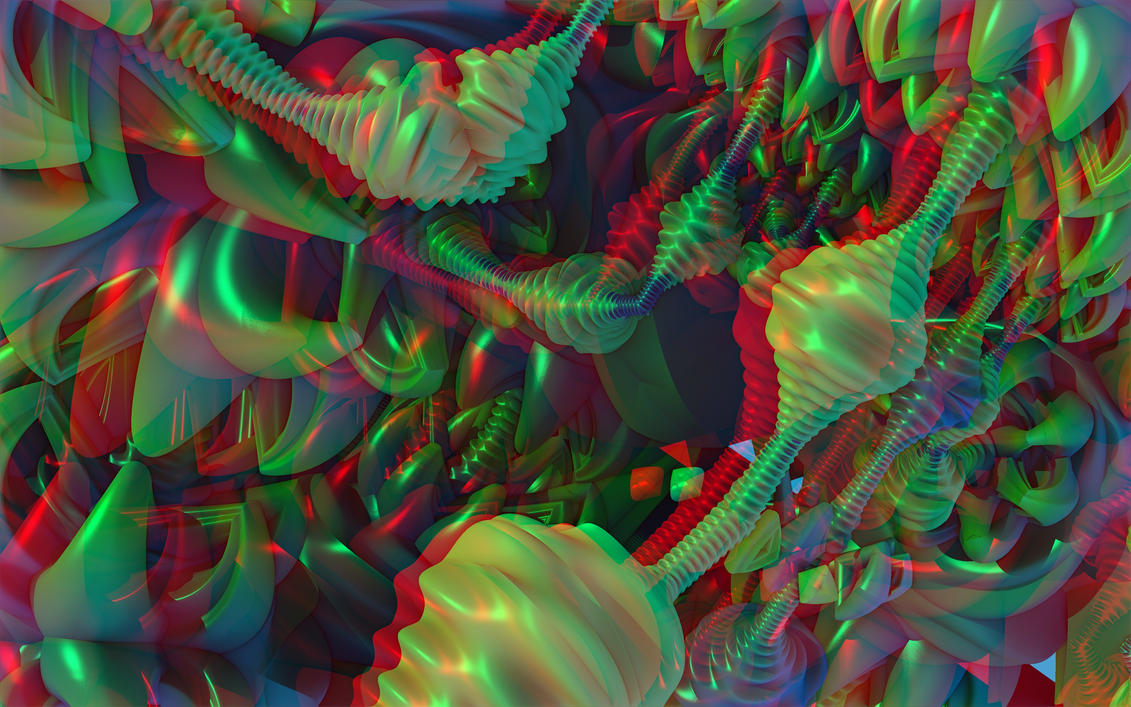 Golgis Dream Anaglyph By Skyzyk On Deviantart