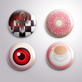Button Pin Badges by EmiDeClam