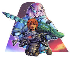 Sara Ryder and Jaal by EmiDeClam