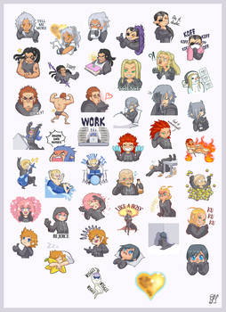 Organization XIII - Telegram stickers pack