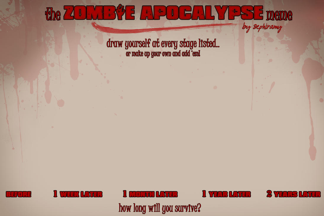 Zombie Apocalypse Meme By Sephiramy On Deviantart