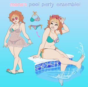Mona has a pool party to host!