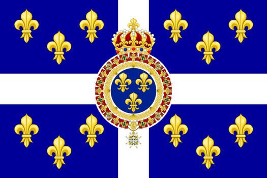 Alternate flag of the Kingdom of France