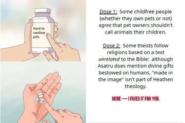 MEME FIX:  Pills from a Pet-Free Polytheist by isnorden